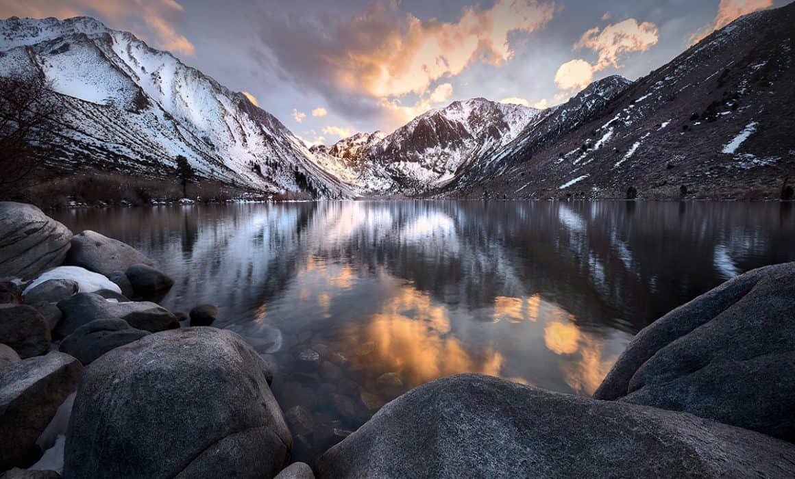 Photo of Convict Lake in The Sierra Nevadas California photographed by Sioux Falls based landscape and travel photographer Paul Heckel.