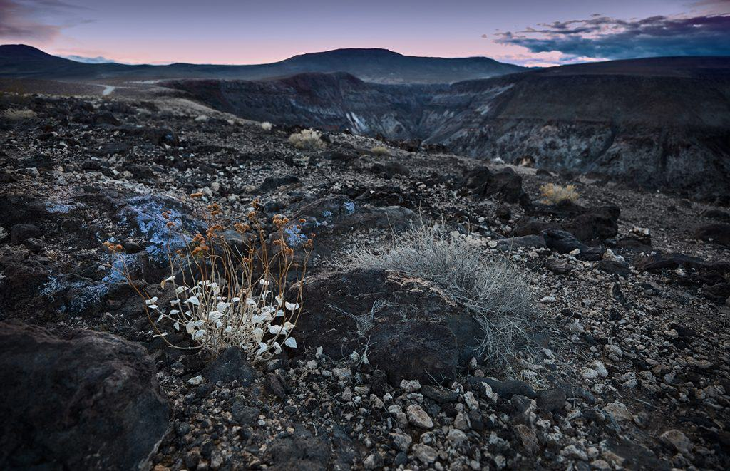 Photograph of a desert from Father Crowley Overlook in Death Valley National Park California. Photographed by Paul Heckel of Heckel Photography.