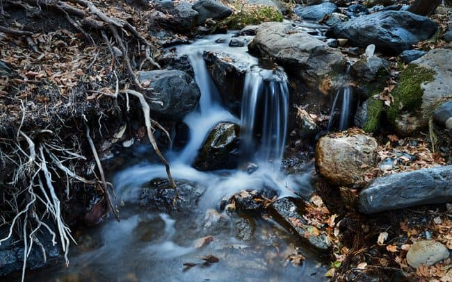 Photograph of a waterfall in Oak Creek Canyon Near Sedona Arizona by Sioux Falls landscape photographer Paul Heckel