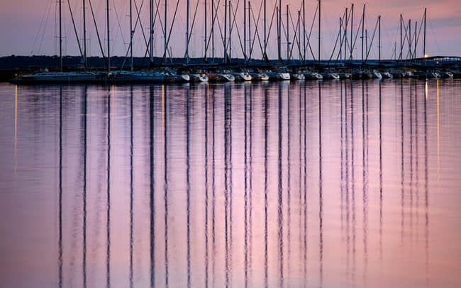 Photograph of sailboats at the Lewise and Clark Marina in Yankton South Dakota by Sioux Falls based landscape photographer Paul Heckel.