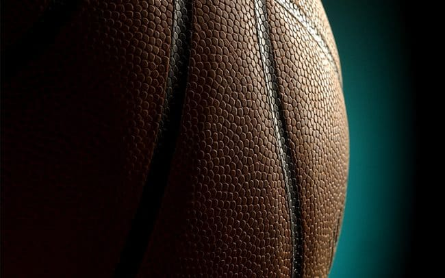 Detail photograph of basketball for Sioux Falls Skyforce photographed by Sioux Falls South Dakota based photographer Paul Heckel.