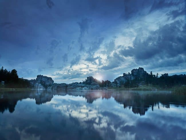 A fine art sunset photographt Sylvan Lake in the Black Hills of South Dakota by Sioux Falls SD based travel and landscape photographer Paul Heckel