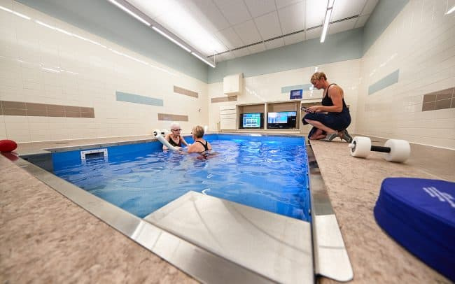 Photograph of a therapy pool at Prairie Lakes Health Systems in Watertown, SD photographed by Sioux Falls based photographer Paul Heckel.
